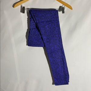 Joe's Female Teen Deep Blue Leopard Cotton Jeans